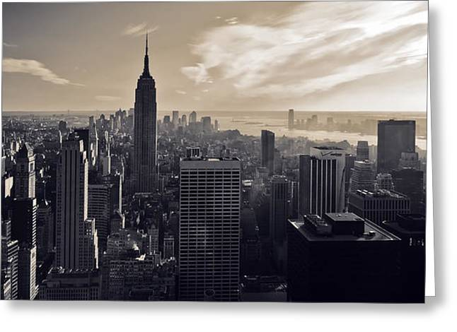 Monochrome Greeting Cards - New York Greeting Card by Dave Bowman