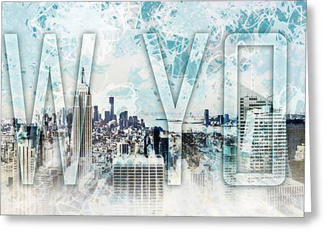 Colorspot Greeting Cards - NEW YORK Digital-Art No.1 Greeting Card by Melanie Viola
