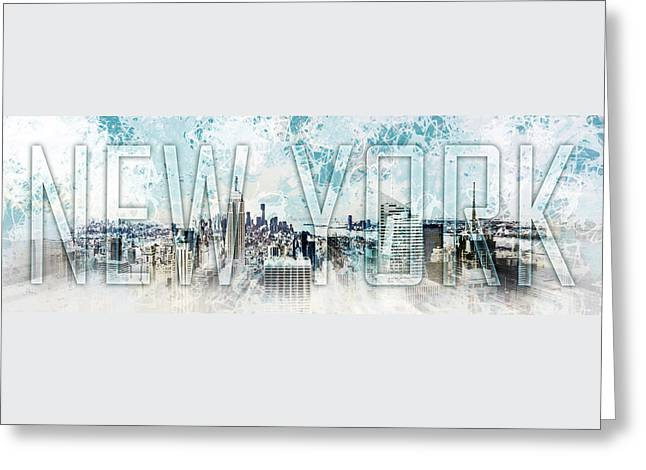 New York Digital-art No.1 Greeting Card by Melanie Viola