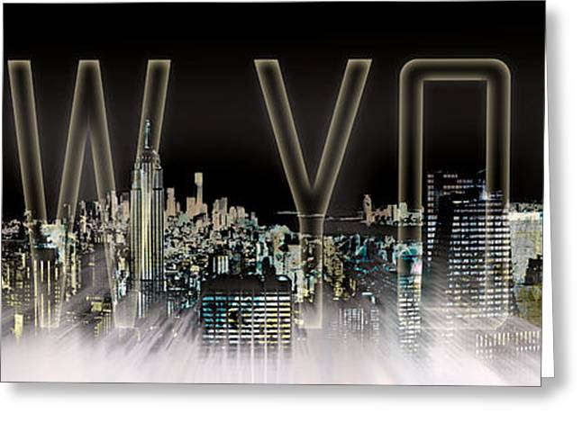 Colorspot Greeting Cards - NEW YORK Digital-Art No.2 Greeting Card by Melanie Viola