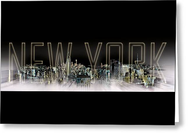 Sightseeing Digital Greeting Cards - NEW YORK Digital-Art No.2 Greeting Card by Melanie Viola