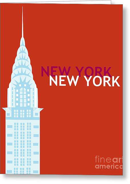 Chrysler Building Digital Art Greeting Cards - New York Empire State Greeting Card by Karen Young