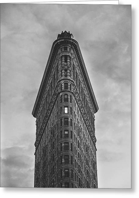 Montreal Icon Greeting Cards - New York Flat Iron Building Greeting Card by Simon Laroche