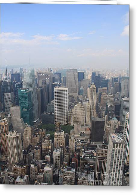 Birdseye Greeting Cards - New York From Above Greeting Card by Christiane Schulze Art And Photography