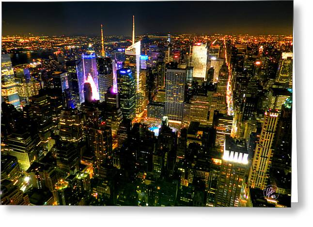 Gotham City Greeting Cards - New York - From the Empire State Building 003 Greeting Card by Lance Vaughn