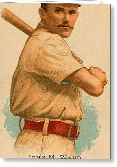 Baseball Uniform Paintings Greeting Cards - New York Giants Cigarette Advertisement Greeting Card by Unknown