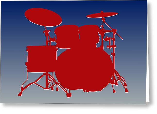 Drum Greeting Cards - New York Giants Drum Set Greeting Card by Joe Hamilton