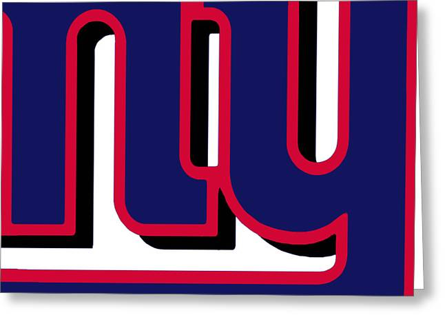 Pig Skin Greeting Cards - New York Giants Football 2 Greeting Card by Tony Rubino