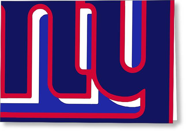 Pig Skin Greeting Cards - New York Giants Football 3 Greeting Card by Tony Rubino