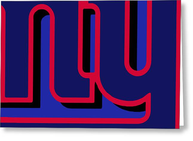 Vince Mixed Media Greeting Cards - New York Giants Football Greeting Card by Tony Rubino