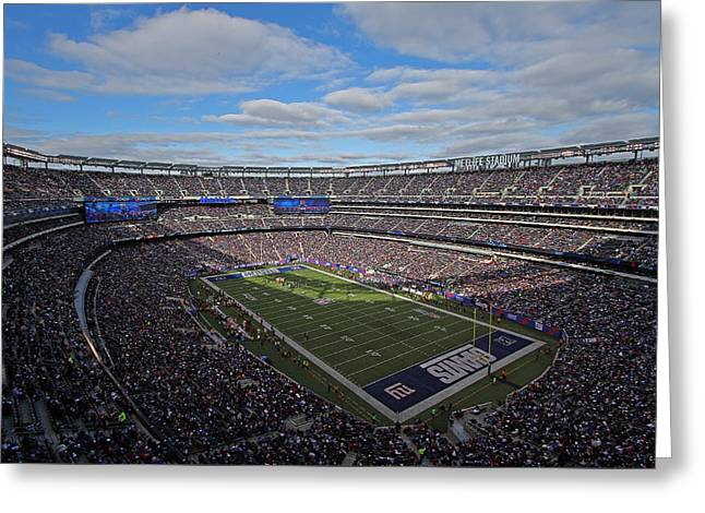 New York Giants Greeting Card by Juergen Roth