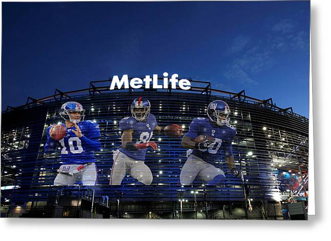 New York Giants Metlife Stadium Greeting Card by Joe Hamilton