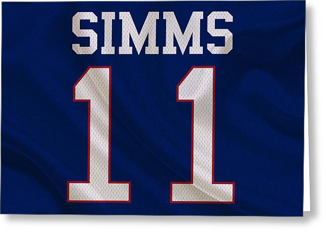 Football Greeting Cards - New York Giants Phil Simms Greeting Card by Joe Hamilton