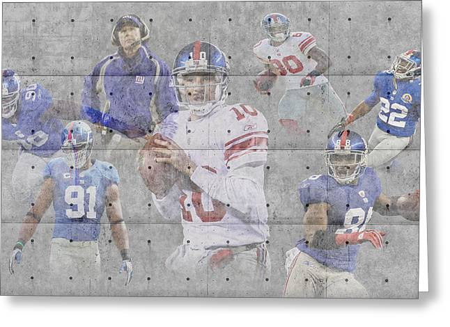 Giant Greeting Cards - New York Giants Team Greeting Card by Joe Hamilton