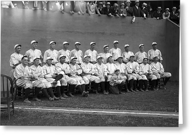 Baseball Players - Greeting Cards - New York Giants Team  Greeting Card by Retro Images Archive