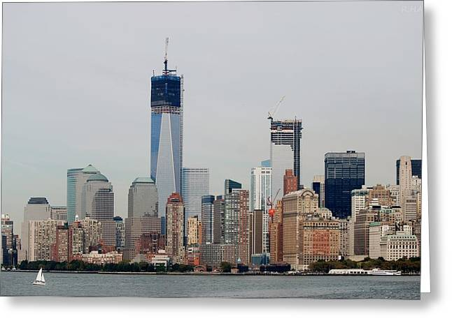 Wtc 11 Greeting Cards - New York Harbor Greeting Card by Rob Hans