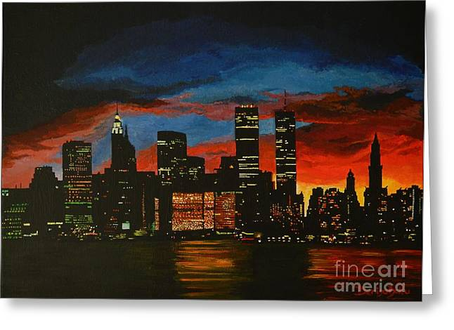 New York In Glory Days Greeting Card by Denisa Laura Doltu