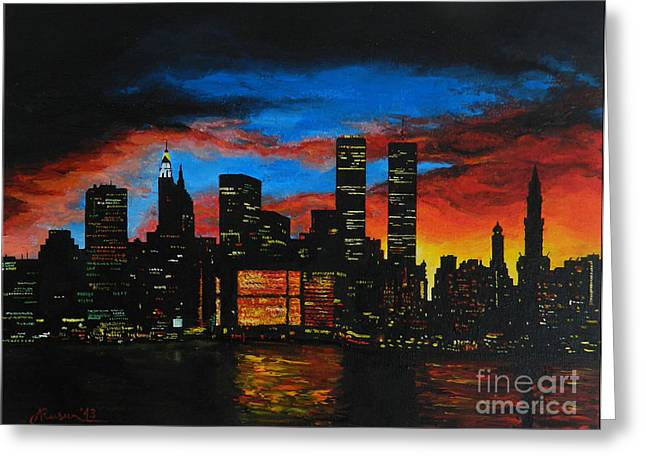 New York In The Glory Days Greeting Card by Alexandru Rusu