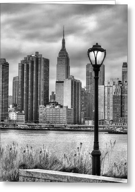 Long Street Greeting Cards - New York Greeting Card by JC Findley
