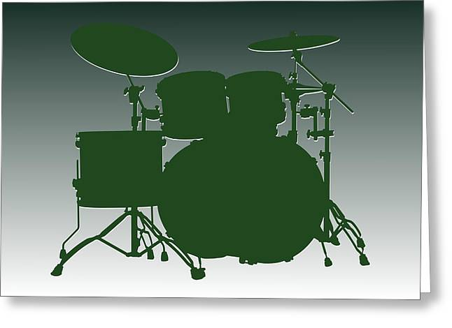 Drum Greeting Cards - New York Jets Drum Set Greeting Card by Joe Hamilton