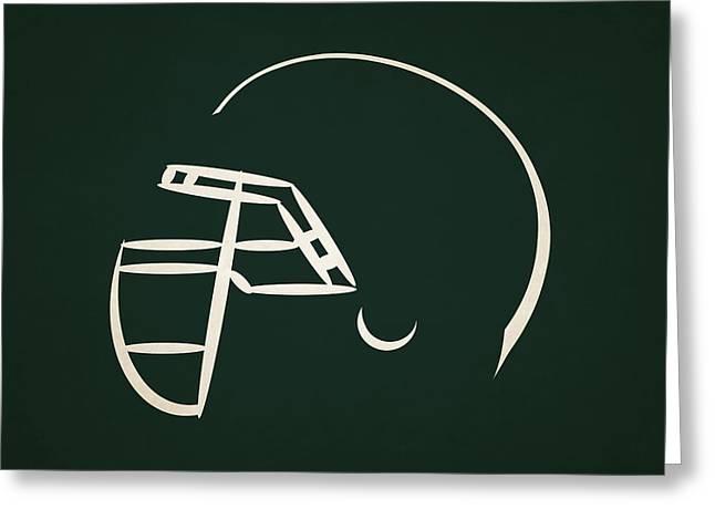 New York Jets Greeting Cards - New York Jets Helmet Greeting Card by Joe Hamilton