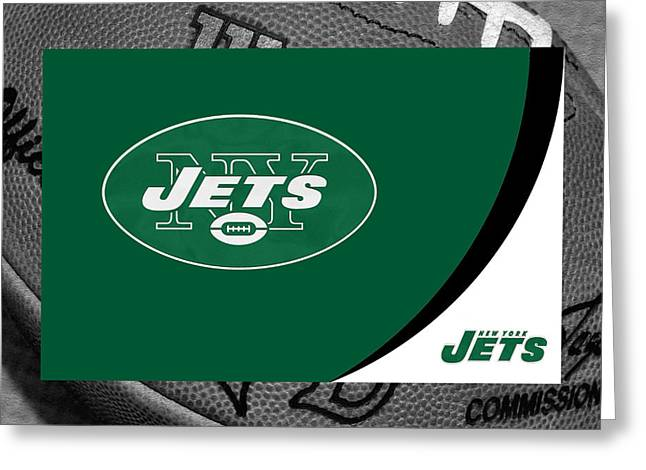 NEW YORK JETS Greeting Card by Joe Hamilton