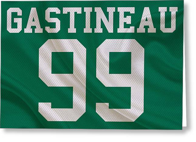Sports Greeting Cards - New York Jets Mark Gastineau Greeting Card by Joe Hamilton