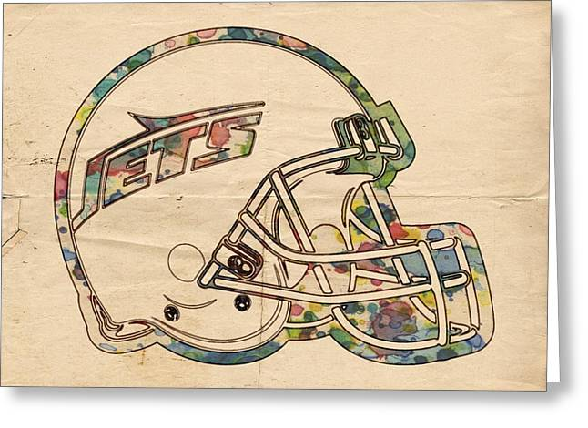 Ny Jets Logo Greeting Cards - New York Jets Poster Art Greeting Card by Florian Rodarte