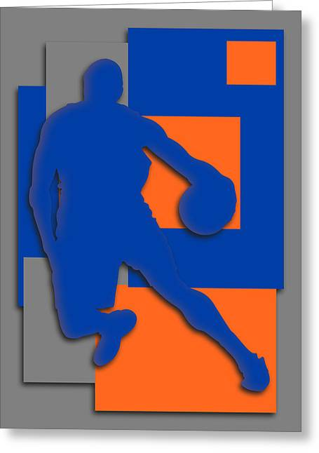 Knicks Greeting Cards - New York Knicks Art Greeting Card by Joe Hamilton