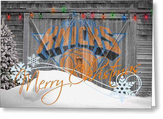 Knicks Greeting Cards - New York Knicks Greeting Card by Joe Hamilton
