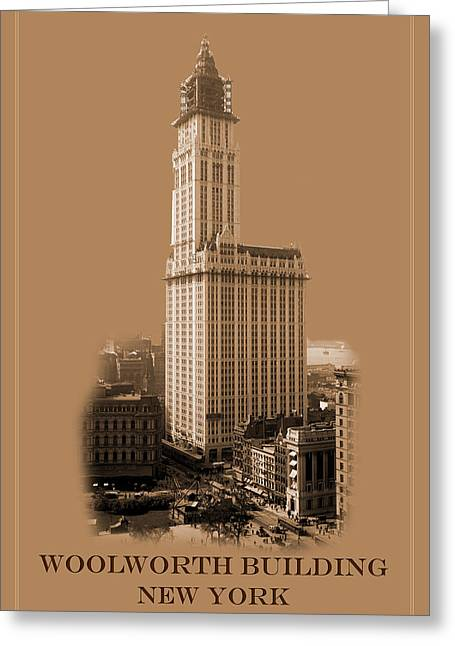New York Landmarks 7 Greeting Card by Andrew Fare