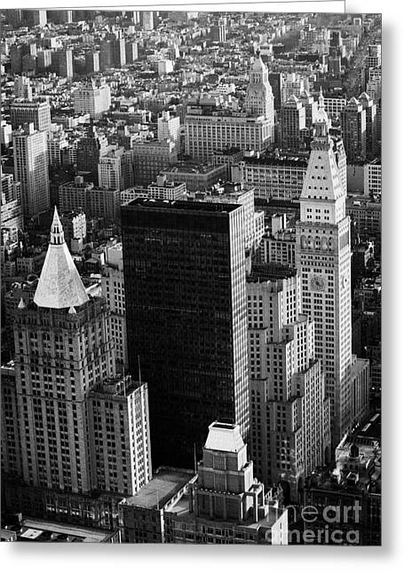 Manhatan Greeting Cards - New York Life Insurance Co Building Belvedere Building And Metropolitan Life Insurance Corp Building Greeting Card by Joe Fox