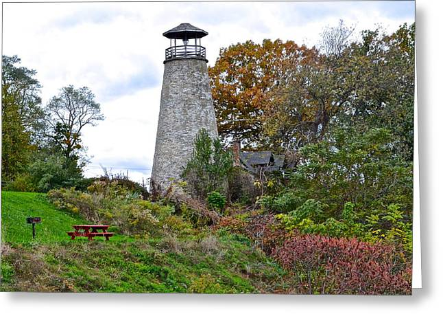 Old Maine Houses Greeting Cards - New York Lighthouse Greeting Card by Frozen in Time Fine Art Photography