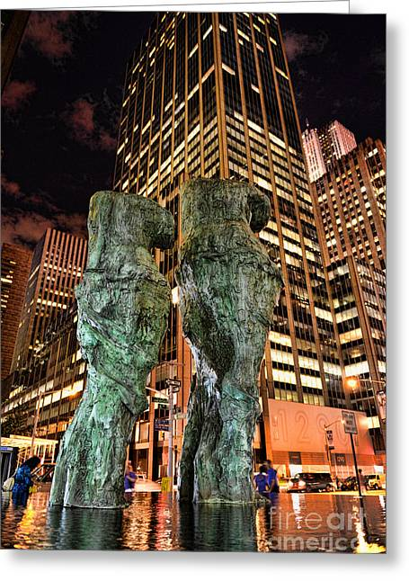 Milo Greeting Cards - New York - Looking Toward the Avenue Greeting Card by Paul Ward
