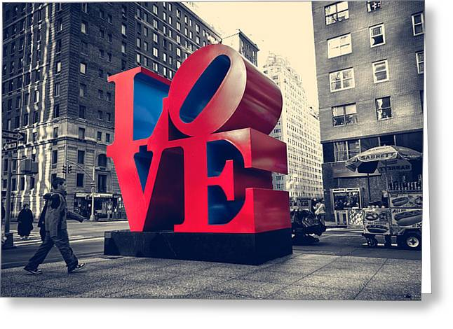 New York Love Greeting Card by Boris Gorelik