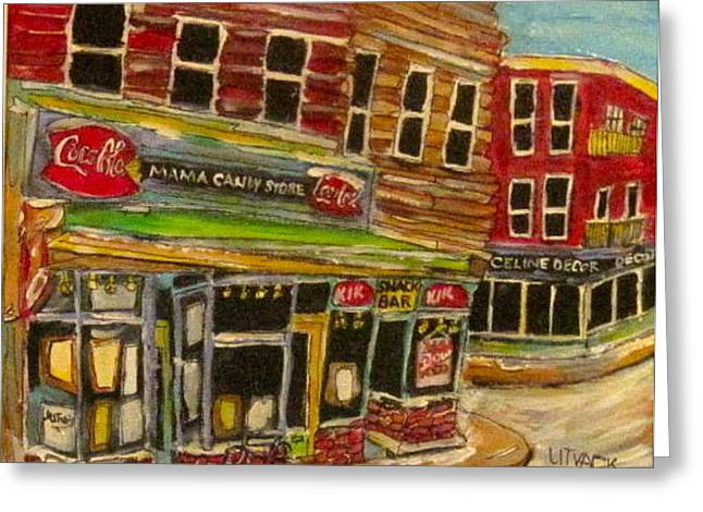 Michael Litvack Greeting Cards - New York Mama Candy Store Greeting Card by Michael Litvack