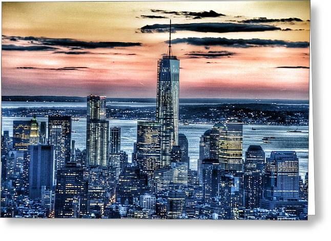 Nature Center Greeting Cards - New York - Manhattan Landscape Greeting Card by Marianna Mills