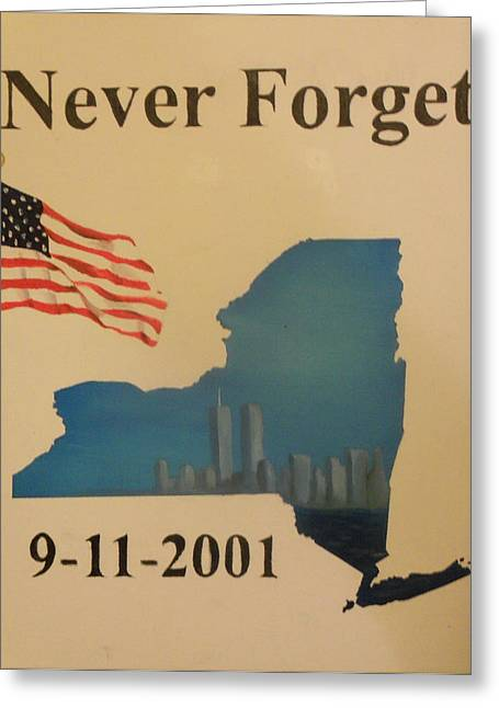 Wtc 11 Paintings Greeting Cards - New York Memorial Greeting Card by Ricky Haug