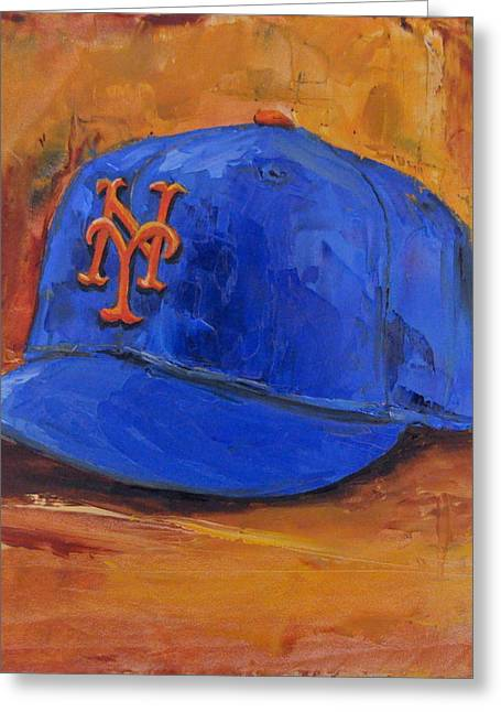 American League Greeting Cards - New York Mets Greeting Card by Lindsay Frost