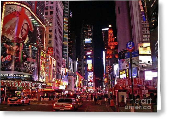 New York New York Greeting Card by Angela Wright
