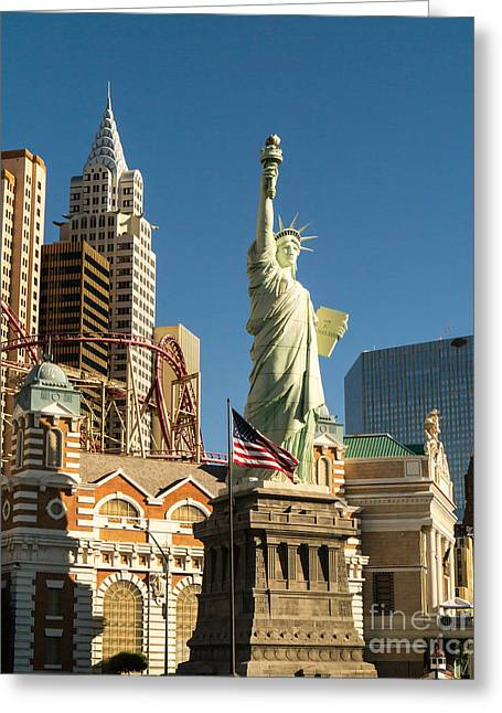 Las Vegas Greeting Cards - New York New York Casino Las Vegas Nevada Greeting Card by Edward Fielding