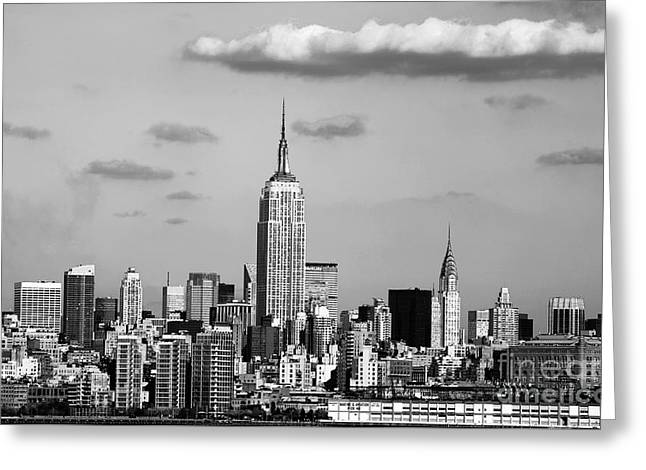 New York New York Greeting Card by John Rizzuto