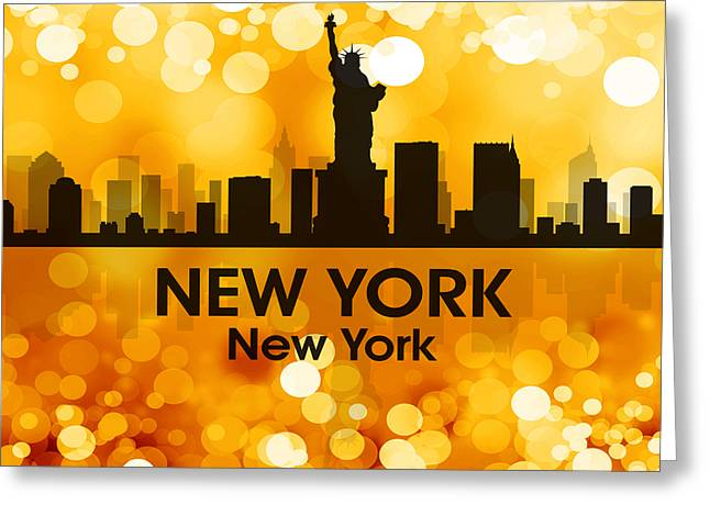 Industrial Icon Greeting Cards - New York NY 3 Greeting Card by Angelina Vick