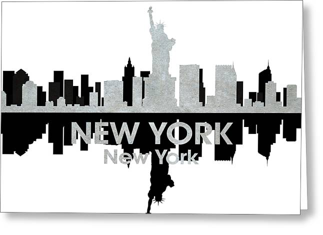 Industrial Icon Greeting Cards - New York NY 4 Greeting Card by Angelina Vick