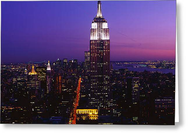 On Location Greeting Cards - New York Ny Greeting Card by Panoramic Images