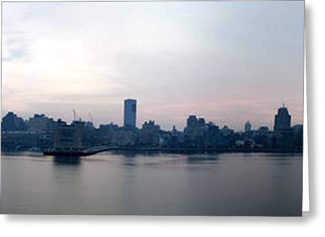 Modern Photographs Greeting Cards - New York Panorama Greeting Card by Ramunas Bruzas