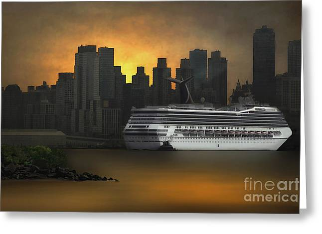 Thomas York Greeting Cards - New York Port Of Call Greeting Card by Tom York Images