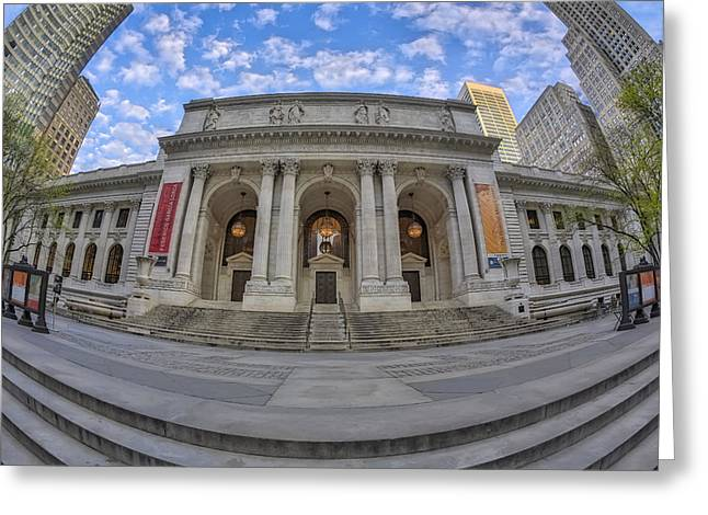 New York Public Library - Nypl Greeting Card by Susan Candelario