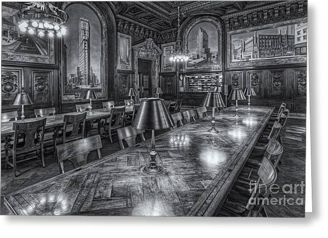 Stephen A. Schwarzman Building Greeting Cards - New York Public Library Periodicals Room II Greeting Card by Clarence Holmes