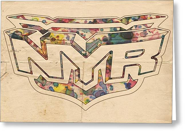 New York Rangers Retro Poster Greeting Card by Florian Rodarte